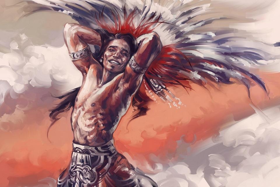 Native American - Aztec Priest by Alex-J-Crow