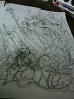 KING smurf by ninevsnine