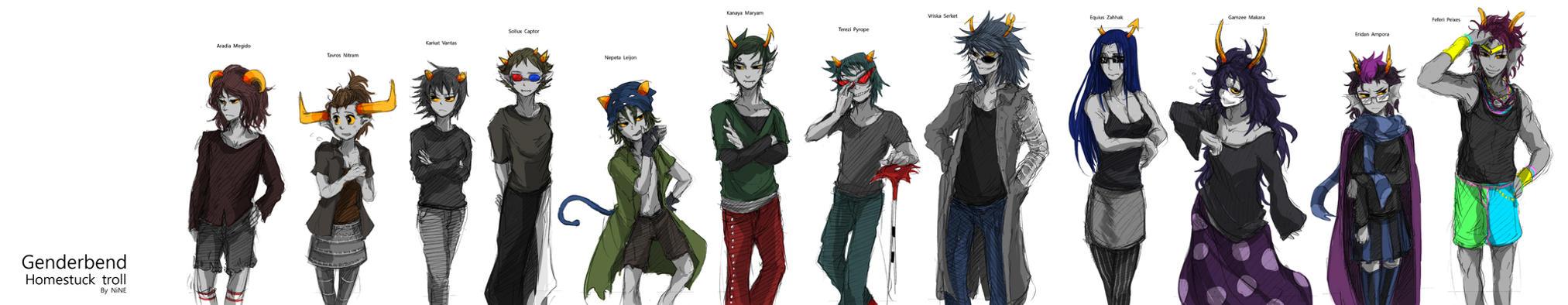 Genderbend troll by ninevsnine