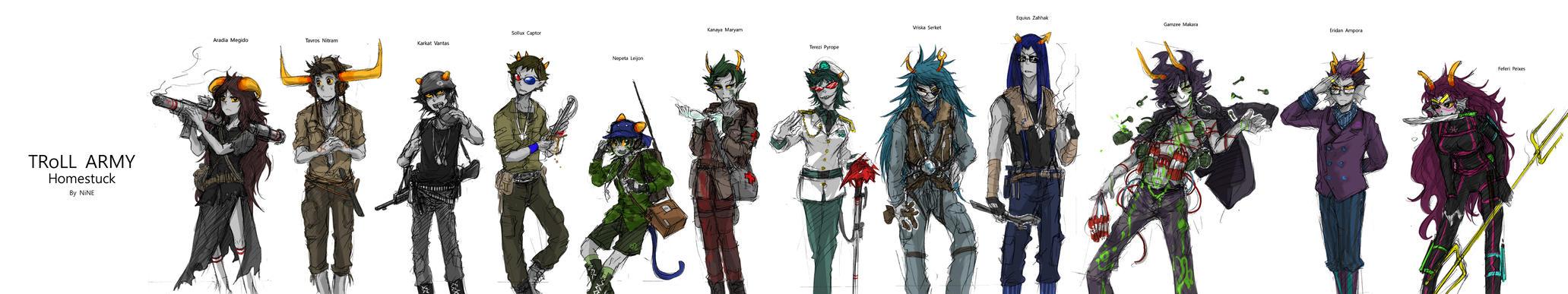 Troll Army by ninevsnine