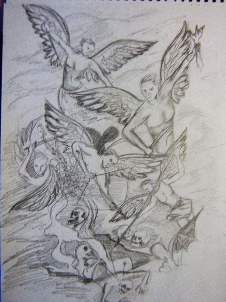 Angels and demons tattoo by damnedqueen34 on deviantart for Angel and demon tattoo