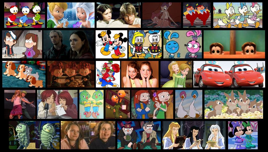 Some Disney twins, triplets, etc. by DanCarrero
