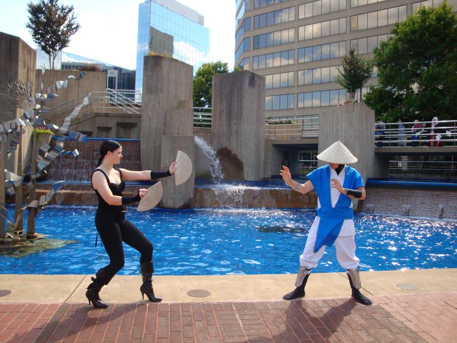 Princess Kitana vs Lord Raiden by regnasis