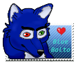 Blue Balto Stamp by okamiblanco