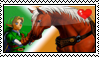 Link and Epona Stamp by okamiblanco
