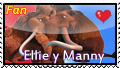 Manny and Ellie stamp by okamiblanco