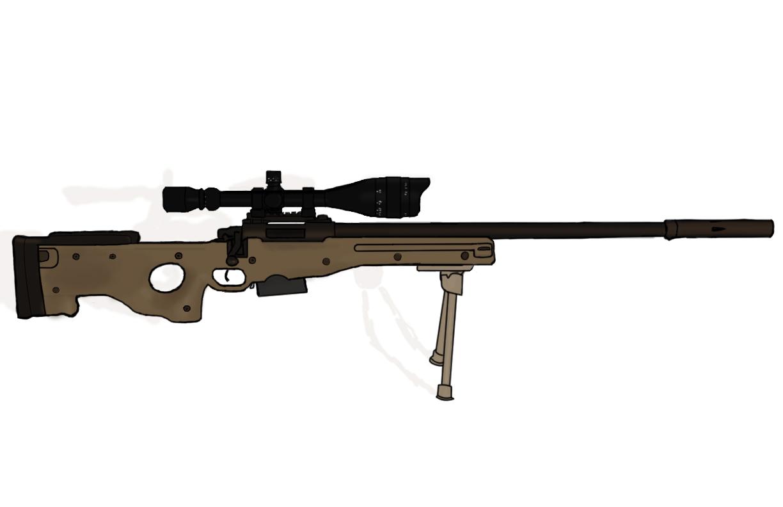 L96 a1 sniper rifle by chiefkaiser on deviantart
