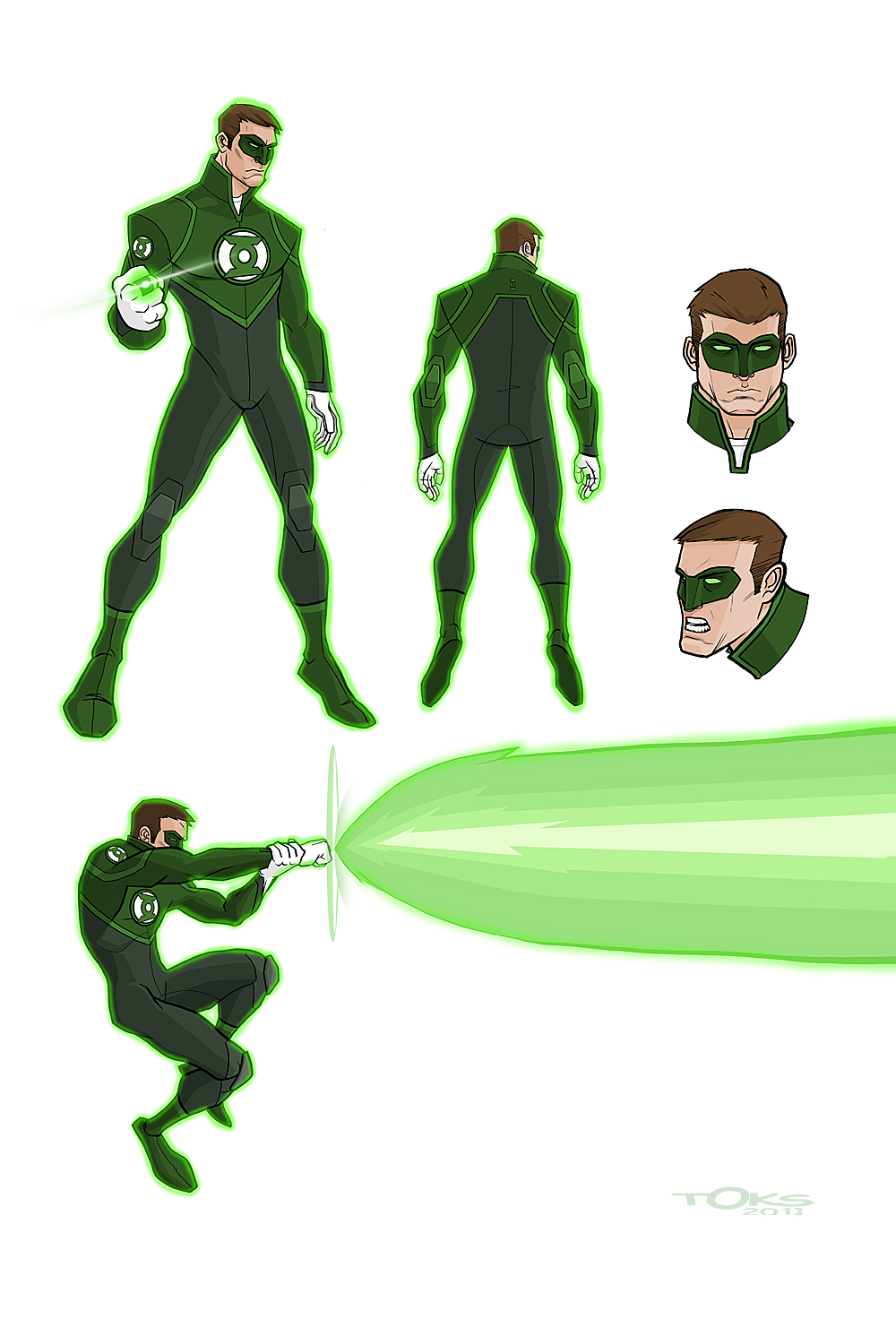 REDESIGN GREEN LANTERN by Toks-S