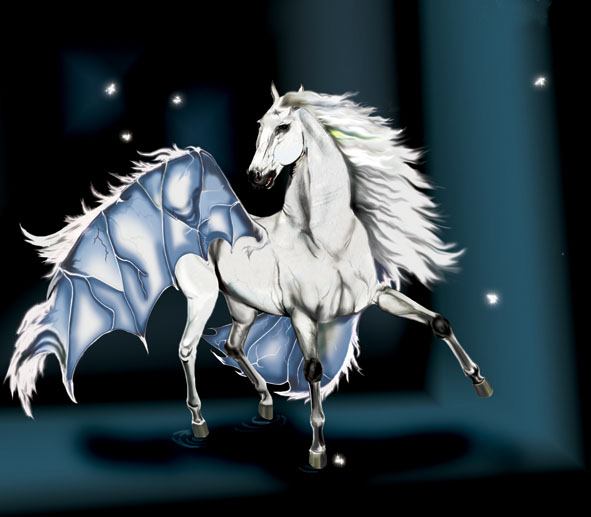 Horse White by AlinaRettler