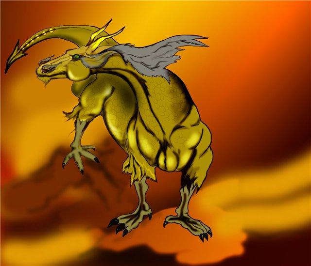 yellow_dragon by AlinaRettler