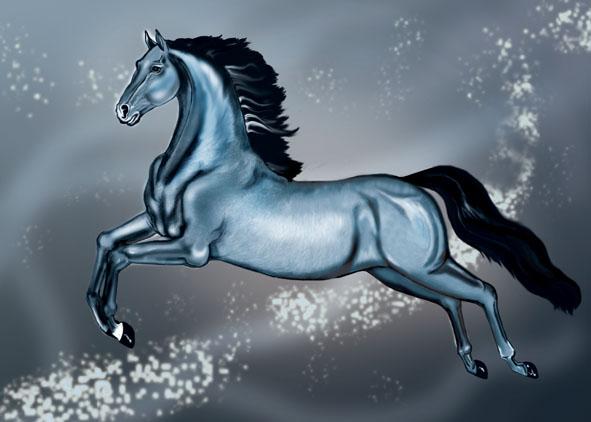 Gray Horse by AlinaRettler