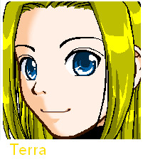 Terra's face by teentitans127