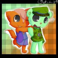Zoe and Flippy -RQ- by Apple-saurus