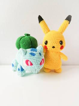 Bulbasaur and Pikachu