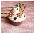 sweet cupcake with candy