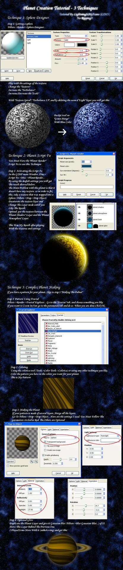 Planet Tutorial for GIMP by LightningIsMyName