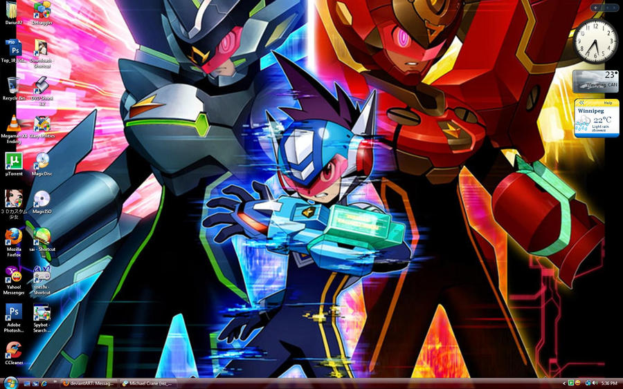 MEGAMAN STARFORCE DESKTOP by DariusXII