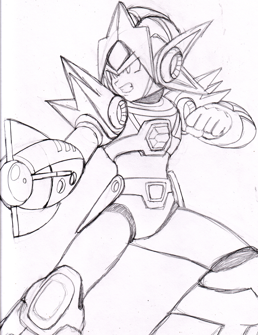 Megaman x coloring pages - Perfect Mega Man X Delta Armor By Dariusxii With Megaman Coloring Pages