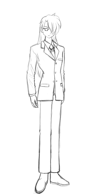 Business suit sketch