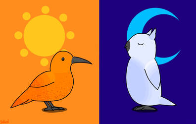 Birds of the sun and moon (My version)