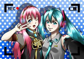 Miku and Luka (Vocaloid) by Ahkhai1999