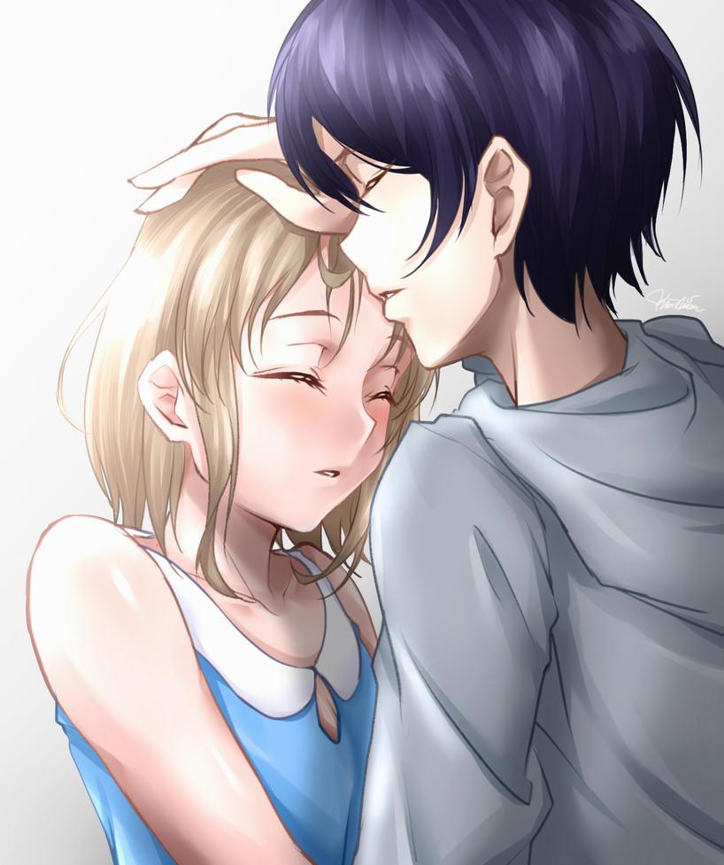 Random anime couple by Ahkhai1999