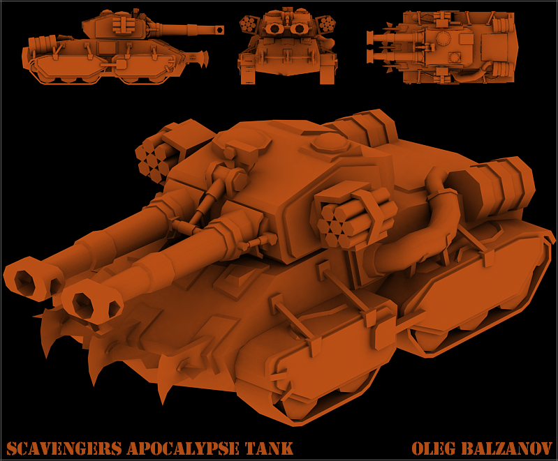 Scavengers apocalypse tank by FF-Design