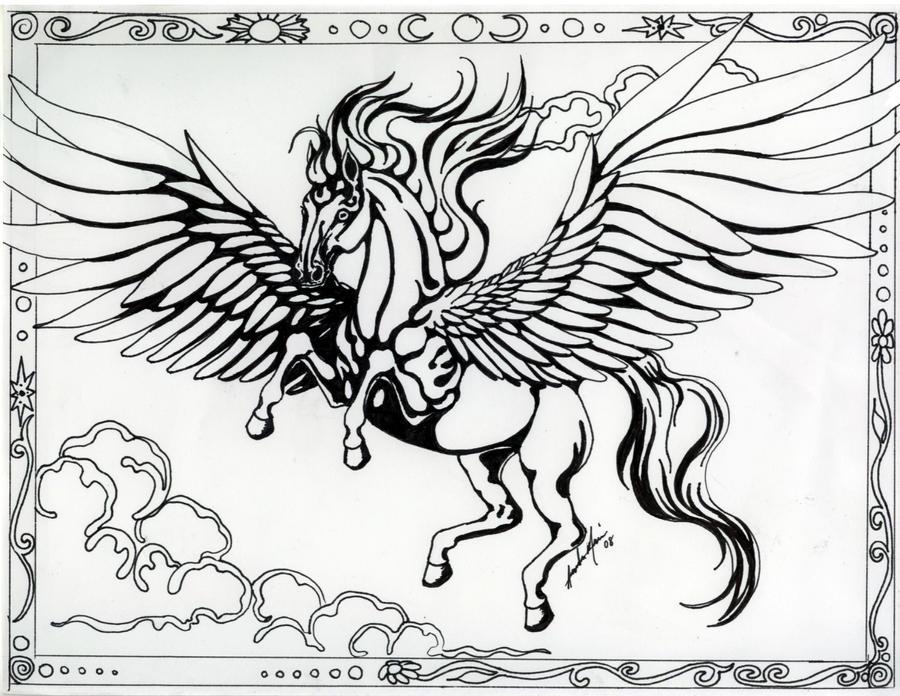 art nouveau pegasus by cozmicdreamer on deviantart