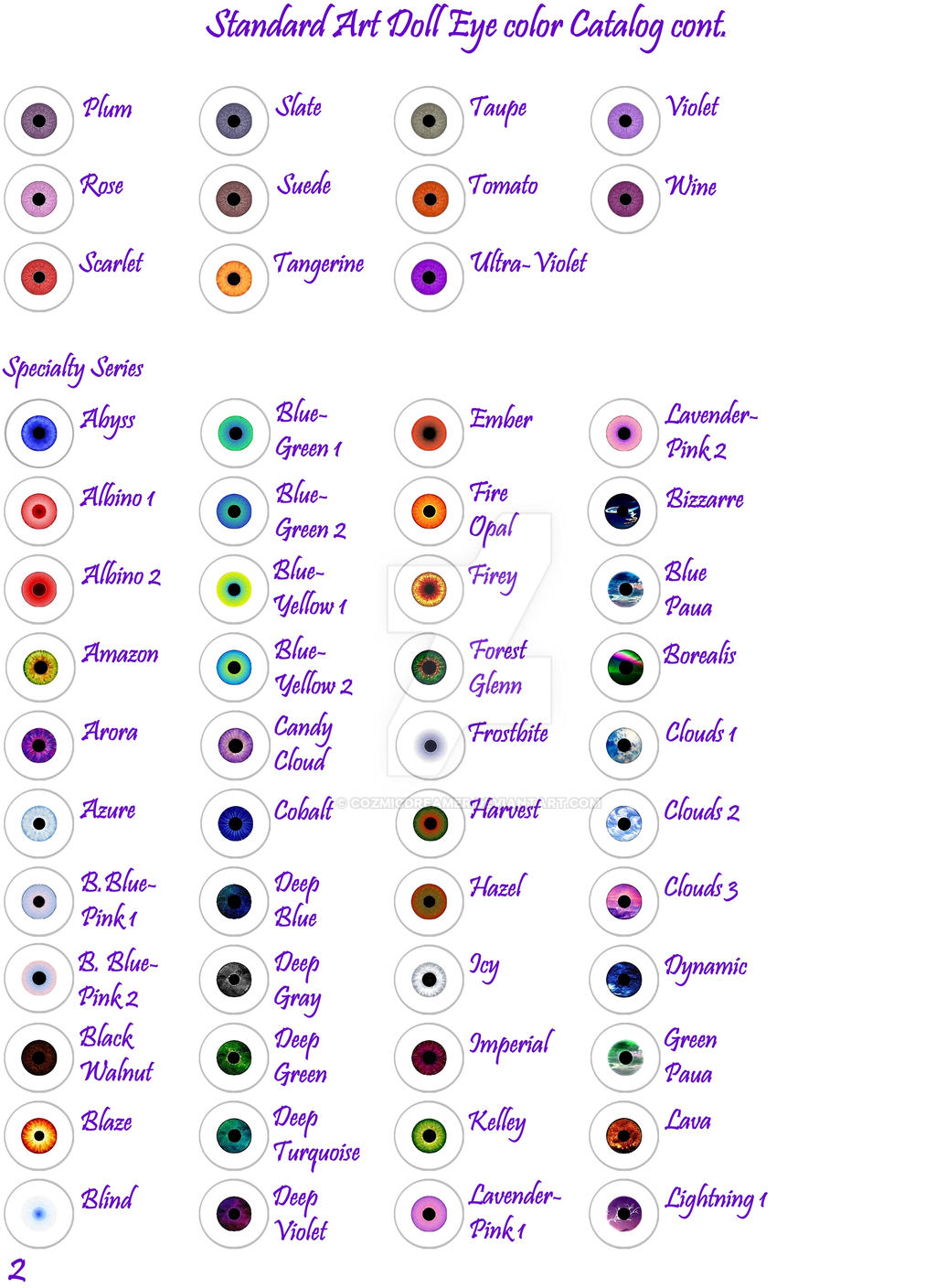 Game color chart -  Ad Eye Color Chart Pg 2 By Cozmicdreamer