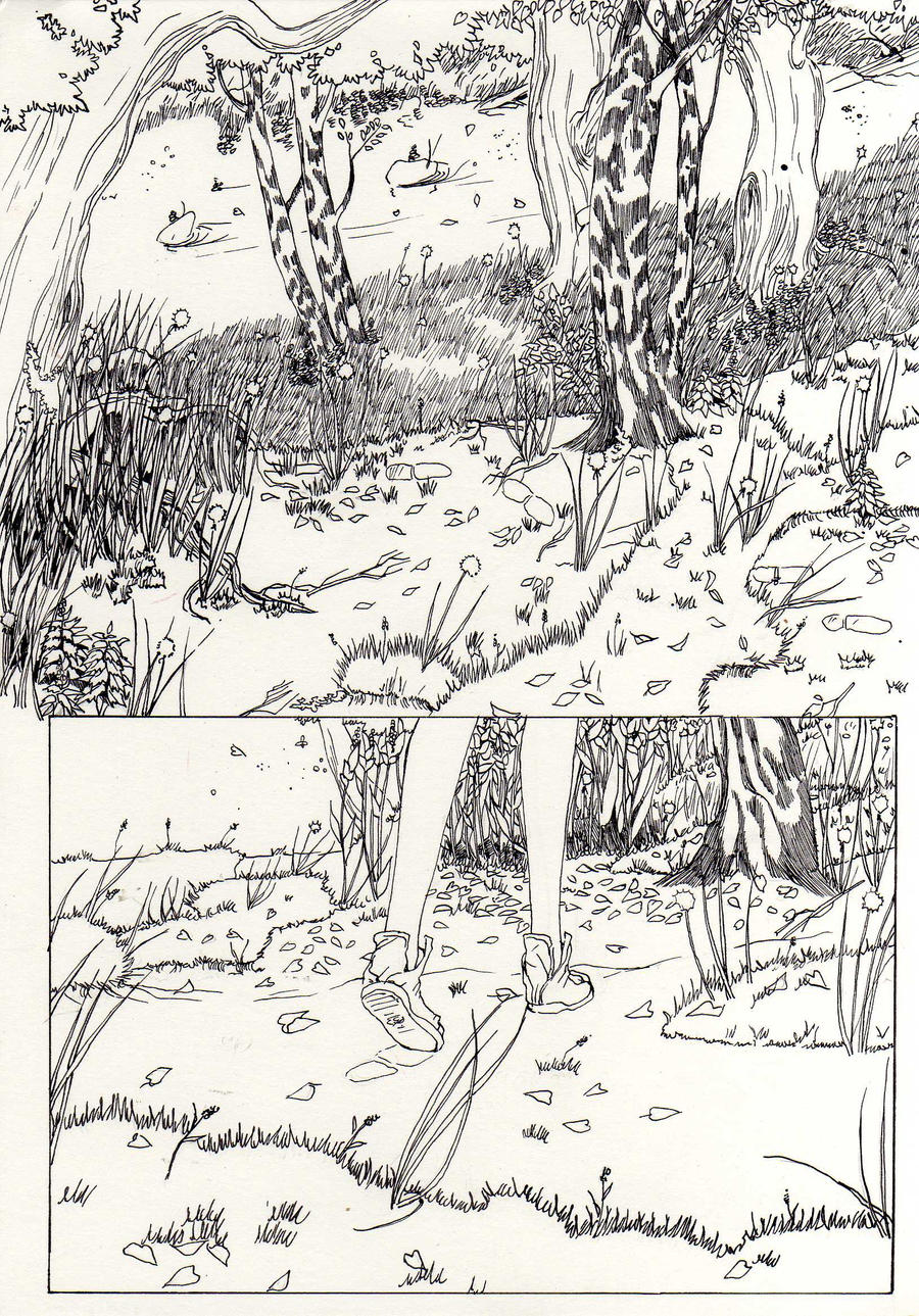 how to draw forest scenery