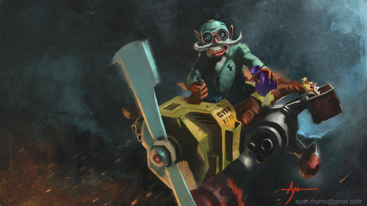 Gyrocopter from Dota 2 by majinprince by crazypaletteGyrocopter Dota 2