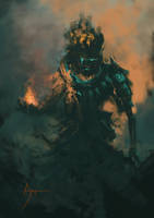Black flame GOD by crazypalette