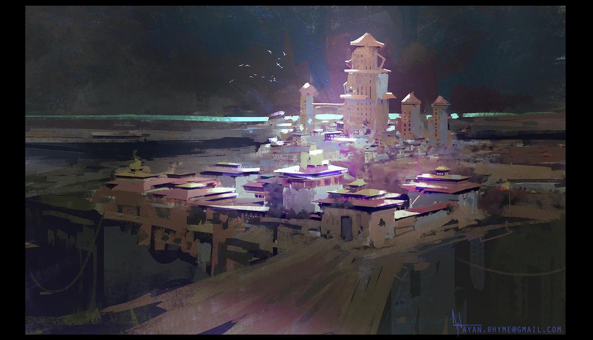Sunlit Shrine by crazypalette