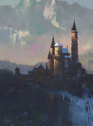 Castle Study Sept 26 - HeavyPaint