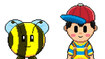 A Bee and Ness by Krazy-Gamer-Play