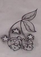 Skull Cherry Flash by sailormouthsarah