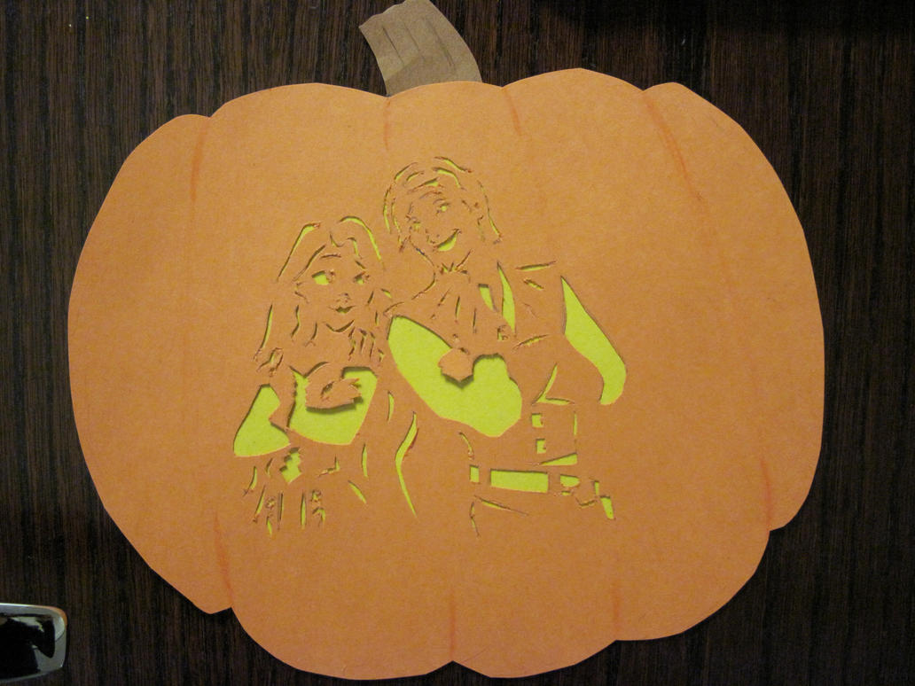 Flynn and rapunzel pumpkin by lantis erin on deviantart for Rapunzel pumpkin template
