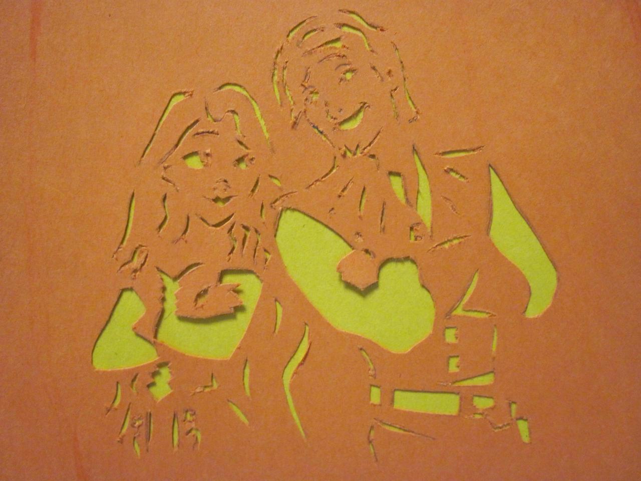 rapunzel pumpkin template - flynn and rapunzel pumpkin close up by lantis erin on