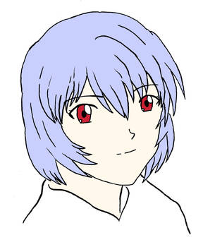 Rei Ayanami colored