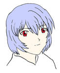 Rei Ayanami colored by BrentNewhall