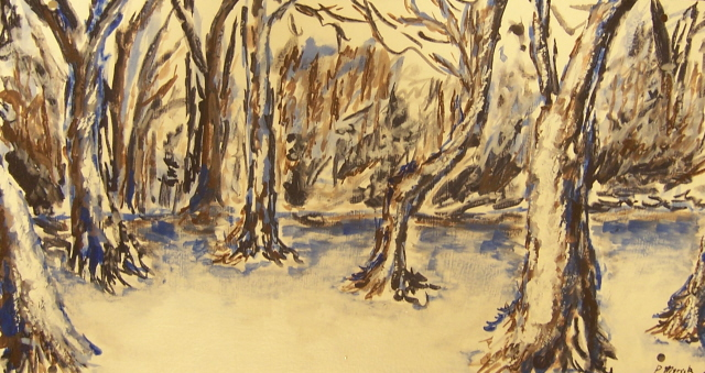 Winter Forest by Godcharon