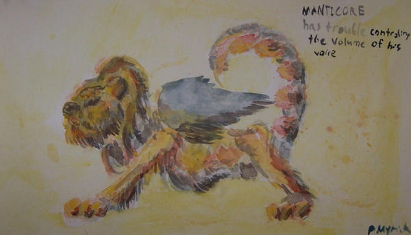 Manticore has trouble by Godcharon
