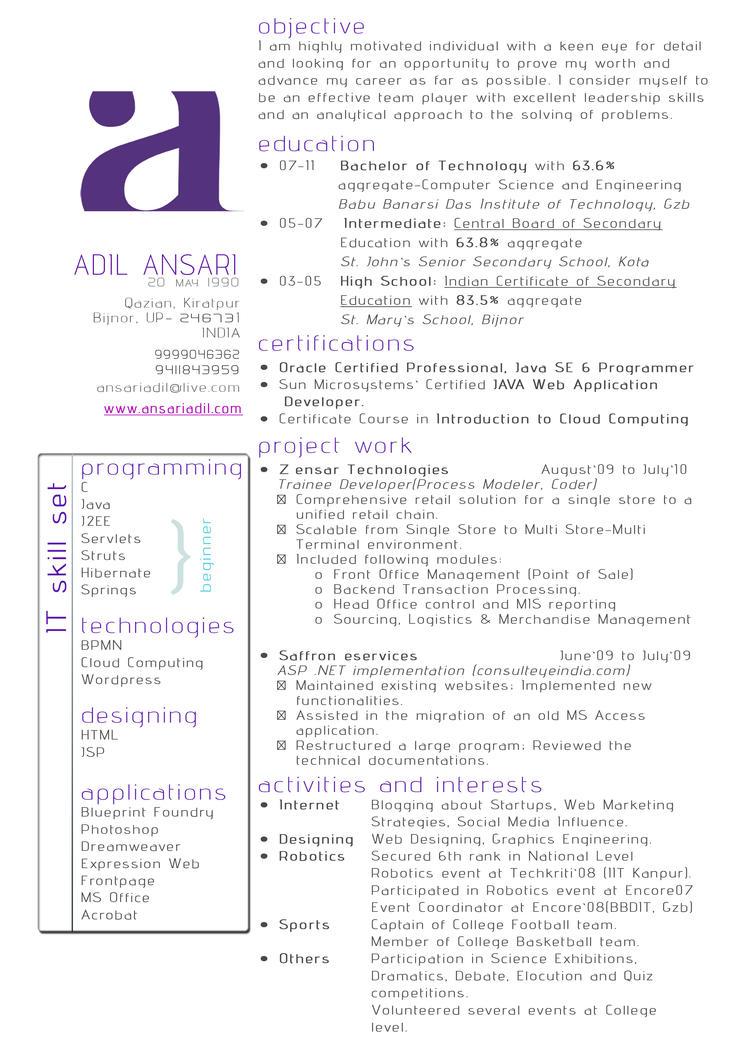 Resume illustration by adilansari
