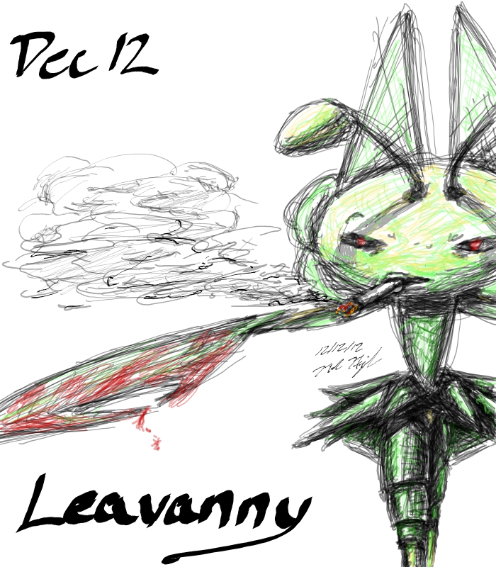 POKEDDEX Challenge - Dec 12 LEAVANNY by ArwingPilot114