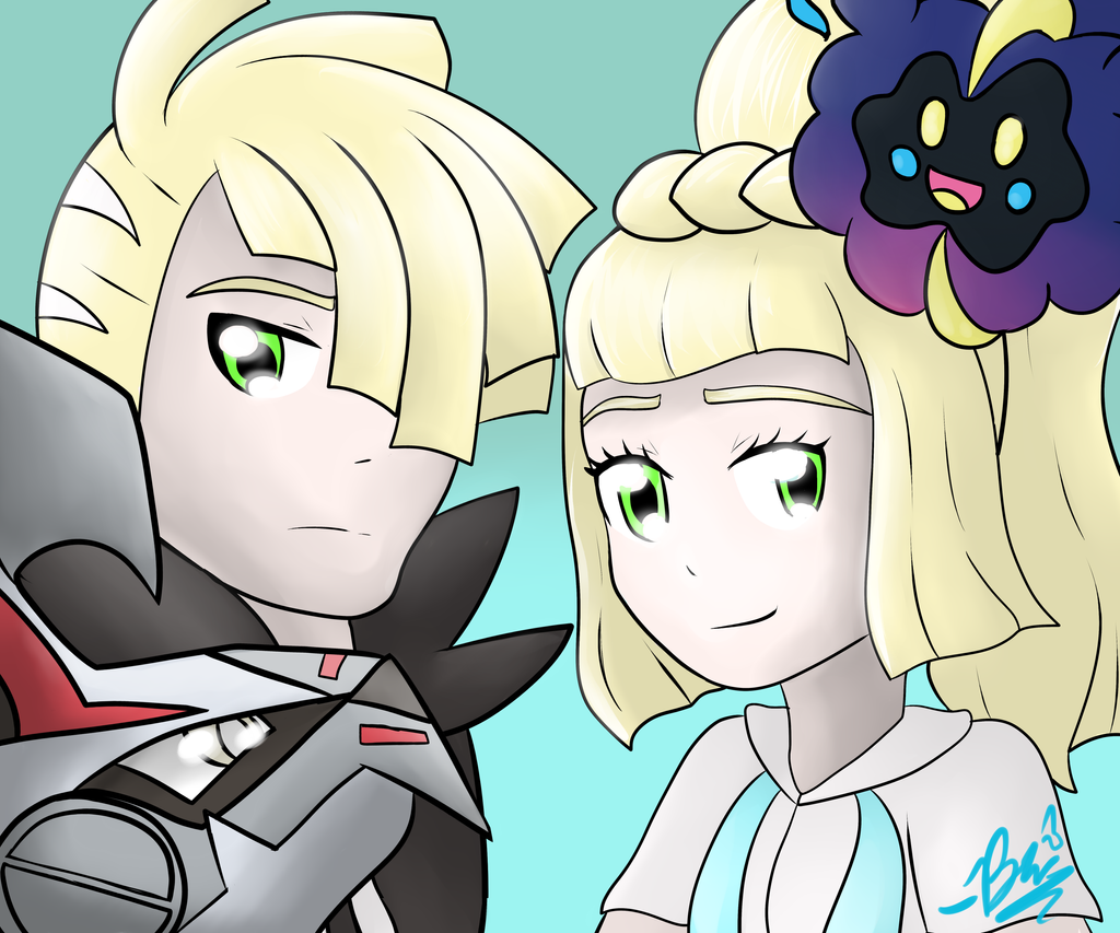 Gladion and lillie by BriannaTheWolf599