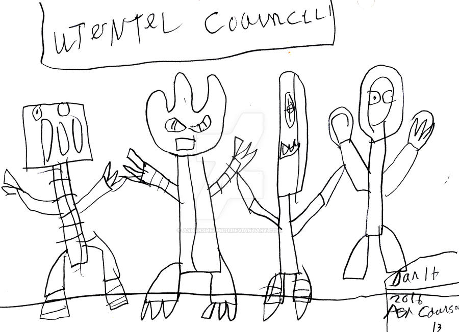 The Utensil Council: Rough Sketch by Gorksonic