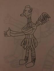 My feathersona Asher profile view  by Ashersheepboi