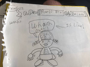 (Olde) a random doodle about NSMB Deluxe