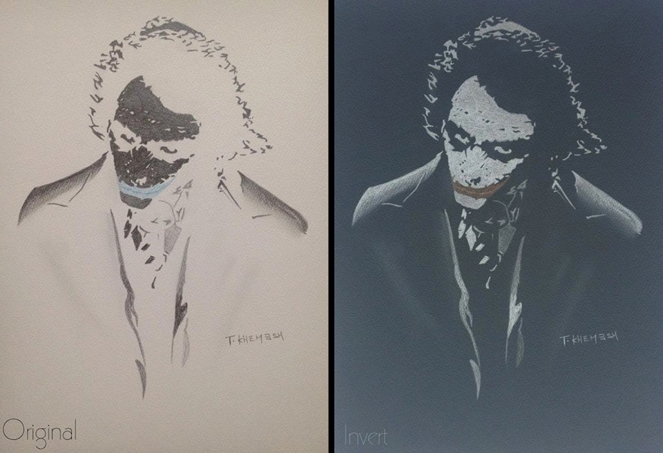 THE JOKER - INVERT COLOR by adiga45