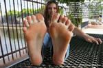 Popular Girl Gets A New Foot Pet